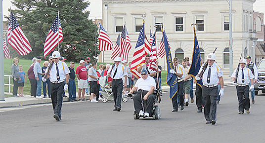 Veterans lead the annual march to commemorate 9/11.