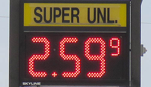 Price of E-10 unleaded had reached $2.599 by Friday, Sept. 1 in Albion.