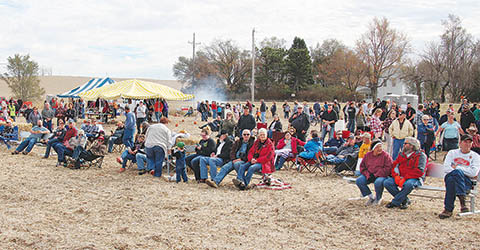Portion of the crowd attending Punkin' Chunkin' 2017.
