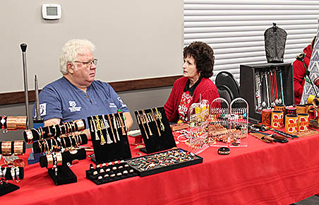 Bill and Emma Loeffler were among the exhibitors at the Christmas Tree Lane Craft and Vendor Show.