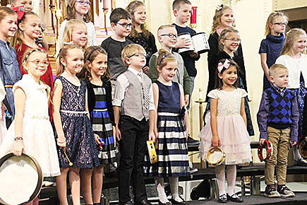 St. Michael's kindergarten, first and second graders perform at their Dec. 20 concert.