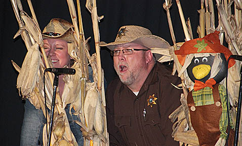 Sheriff Denny Johnson performs during 'Hee Flaw 2.0.'