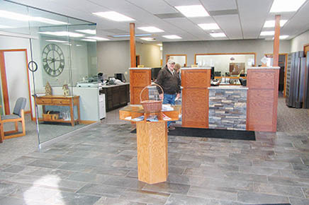 Interior of Great Plains State Bank in Petersburg.
